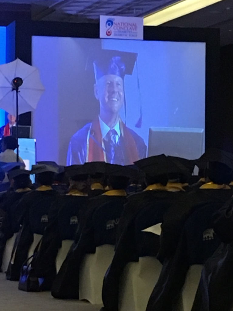 Armstrong delivers convocation address at India's National Diabetic Foot Conclave